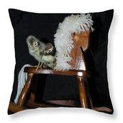 Double Seat Rocking Horse Throw Pillow