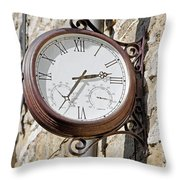 Double Sided Station Clock - Bakewell Throw Pillow