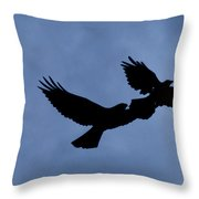 Double Silhouette Throw Pillow