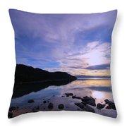 Double Sundog At Sunset Throw Pillow