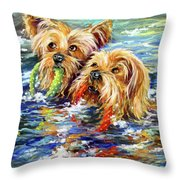 Double The Trouble Throw Pillow