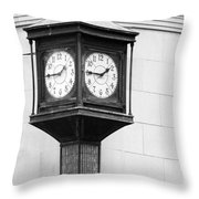 Double Time Black And White Throw Pillow