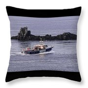 Double Trouble 2 Heading Out Throw Pillow