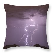 Double Trouble Fine Art Lightning Photography Throw Pillow
