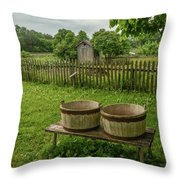 Double Tubs Throw Pillow