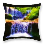 Double Waterfall Throw Pillow by Bill Cannon