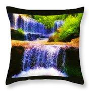 Double Waterfall Throw Pillow