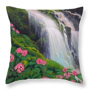Double Hawaii Waterfall Throw Pillow