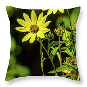 Double Yellow Throw Pillow