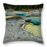 Doublet Pool Hot Spring In Yellowstone Throw Pillow