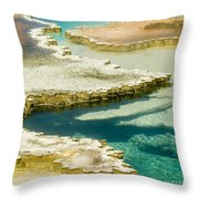 Doublet Pool In Yellowstone Throw Pillow