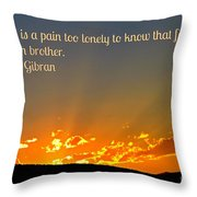 Doubt And Pain Throw Pillow