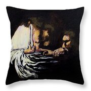 Doubting Thomas Throw Pillow by Clyde J Kell