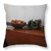 Dough Box Table At Christmas Throw Pillow