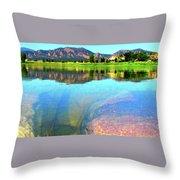Doughnut Lake Throw Pillow by Eric Dee