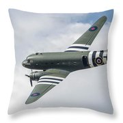 Douglas C-47 Dakota Za947 Throw Pillow