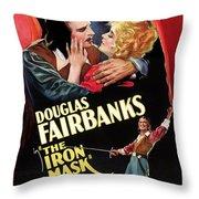 Douglas Fairbanks In The Iron Mask 1929 Throw Pillow