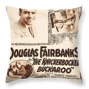 Douglas Fairbanks In The Knickerbocker Buckaroo 1919 Throw Pillow