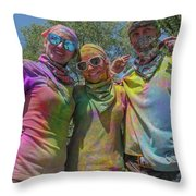 Doused With Color 2 Throw Pillow