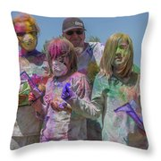 Doused With Color 3 Throw Pillow
