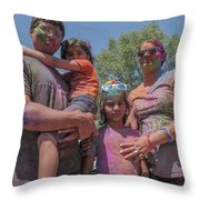 Doused With Color Throw Pillow