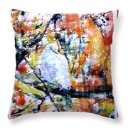 Dove On The Yellow Tree Throw Pillow