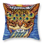 Dover Cat Throw Pillow