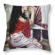 Dove's Eyes Throw Pillow
