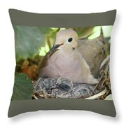 Doves In Planter Throw Pillow