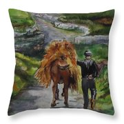 Down A Country Lane Throw Pillow