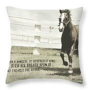 Down And Back Quote Throw Pillow