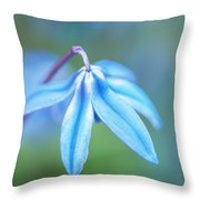 Down And Blue Throw Pillow