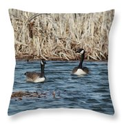 Down At The Bay Throw Pillow