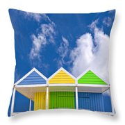 Down At The Beach Throw Pillow