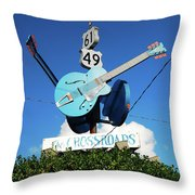 Down At The Crossroads Throw Pillow