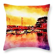 Down By Dock 2 Throw Pillow