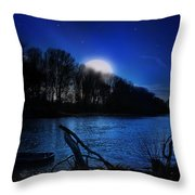 Down By The River Throw Pillow