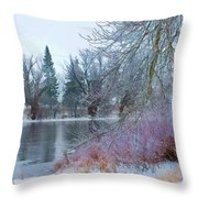 Down By The Riverbend Throw Pillow