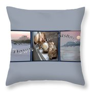 Down By The Seashore Throw Pillow