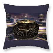 Down Came The Mandel Throw Pillow