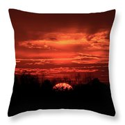 Down For The Count Sunset Art Throw Pillow