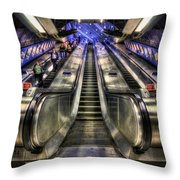 Down From A Cloud. Up From The Underground. Throw Pillow