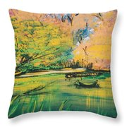Down In The Bayou Throw Pillow