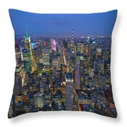 Down In The City  Throw Pillow