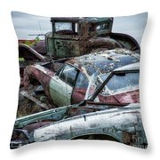 Down In The Dumps 3 Throw Pillow