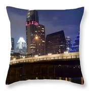 Down In The Park Throw Pillow