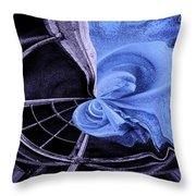 Down Into The Blue Throw Pillow