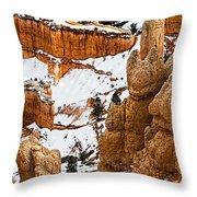 Down Into The Canyon Throw Pillow