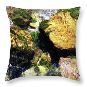 Down Stream Of Clearwater Falls Throw Pillow