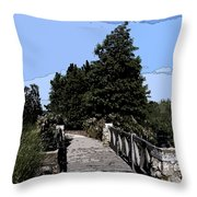 Down The Bridge Throw Pillow